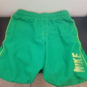 Nike Kid's Green Swim Shorts